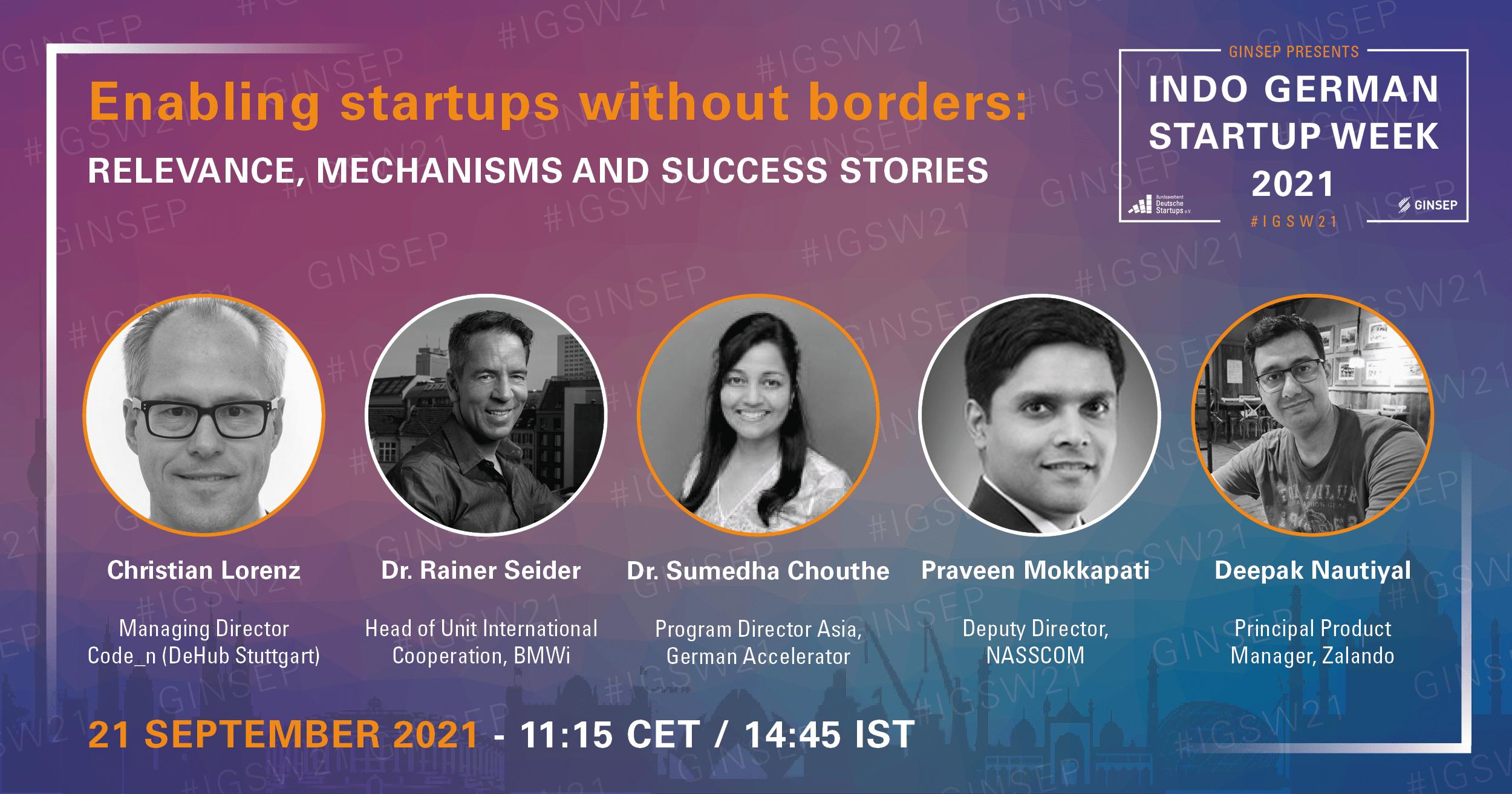 Enabling Startups without Borders, Indo German Startup Week, CODE_n, Startup, Innovation, Industrie 4.0