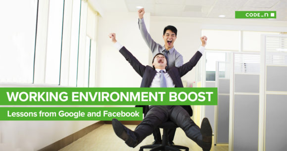 working-environment-boost-productivity-creativity-tech-companies-google-facebook-office-improve-performance