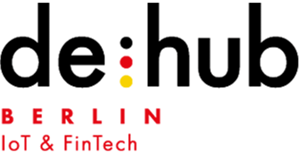 de:hub Berlin IoT FinTech Logo, CODE_n, innovation, spaces, Startup
